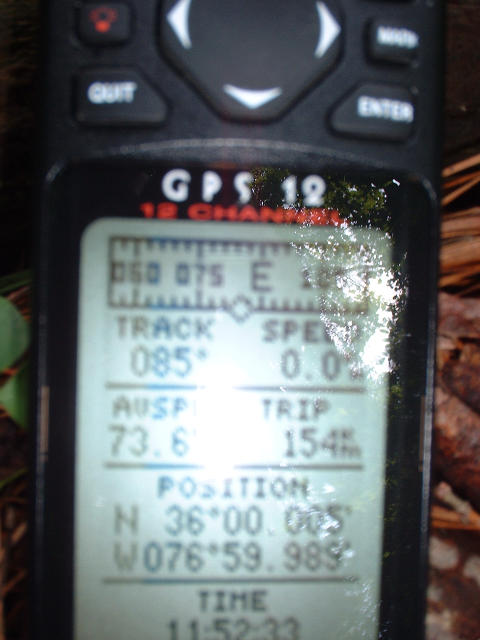 My GPS at the confluence.