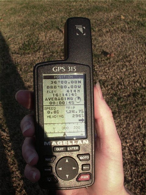 The GPS, on site, and in the light.
