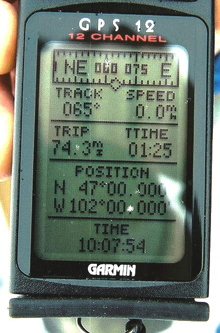 GPS screen showing confluence