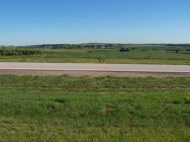 The view North of Highway 66, just East of the farmhouse.