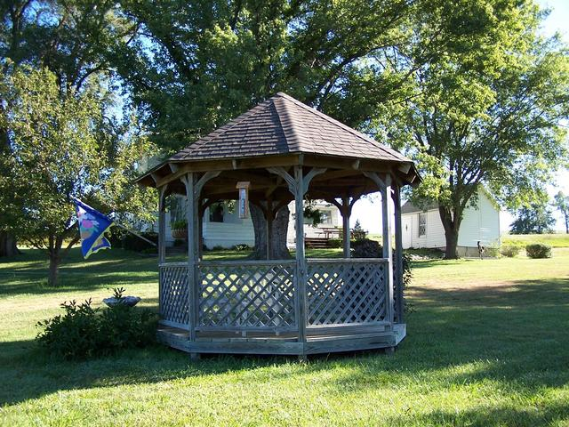 The Gazebo in the farmyard.