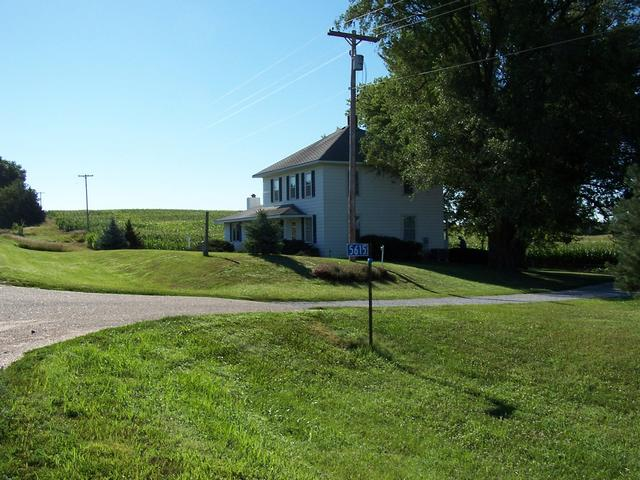 The farmhouse as seen from Highway 66.