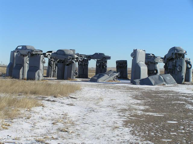 Stonehenge in Vehicles:  Carhenge, Nebraska, 14.5 km northeast of confluence.