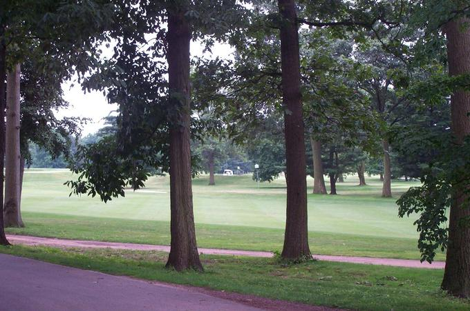 View from the nearest direct access to the golf course (Thomas Ave, just under 300m)