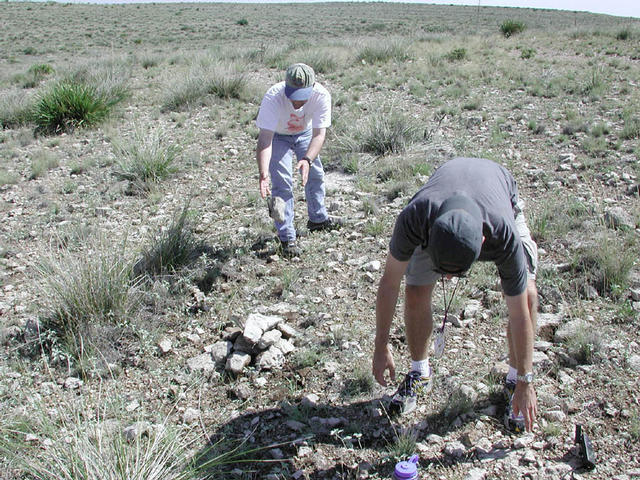 Collecting rocks for the cairn