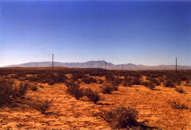 Looking west, with the Caballo Mtns in background.