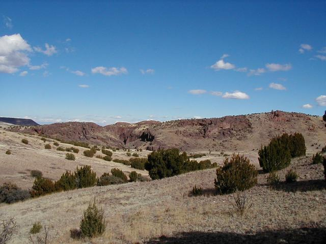 Box Canyon, view to the NE from the confluence