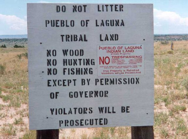 Laguna Pueblo, No Trespassing