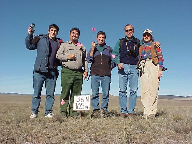 Joseph Kerski, USGS, Ruben Andrade, National Park Service, Ray Marchi, Santa Fe Trail Association, and Dan and Vicky Kipp, Fort Union Ranch.