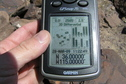 #7: GPS reading at the confluence site.