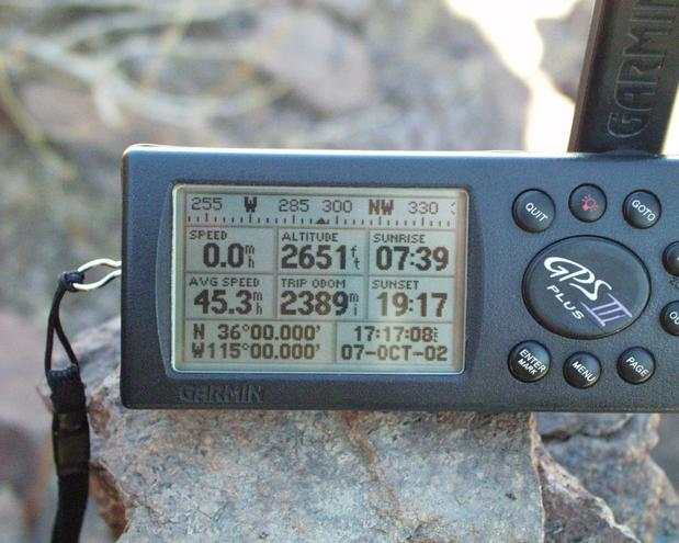 GPS on top of rock cairn