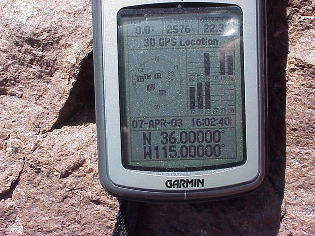GPS receiver at the confluence site.