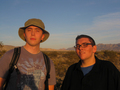 #5: D. Hinz and J. Winters at the confluence point.