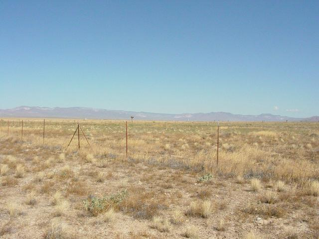 View Looking North, Other Side of Fence is Ground Zero for Underground Nuclear Test