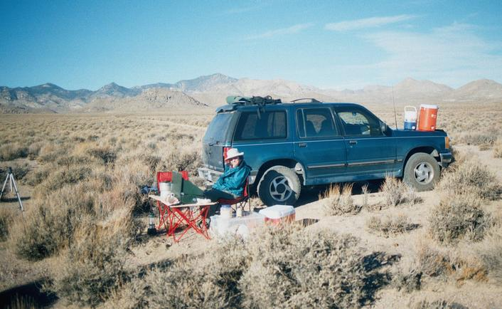 Campsite .8 miles south of confluence.