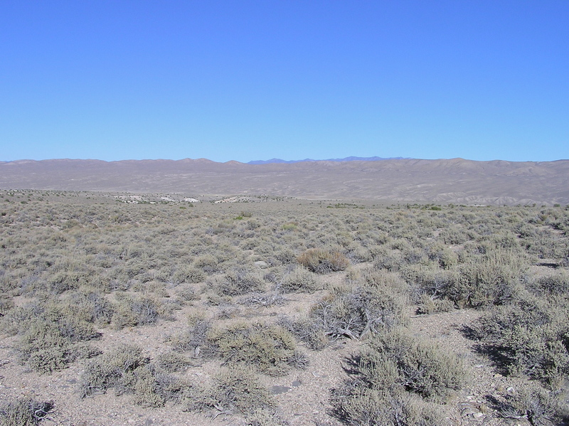 View East (towards the White River Valley, and Nevada Highway 318)