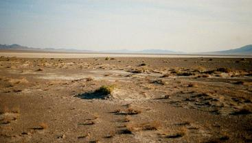 #1: A view to the south across the dry lake bed.