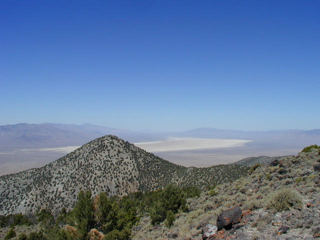Looking North over Cornish Peak with the Buena Vista Valley alkali flats in the background