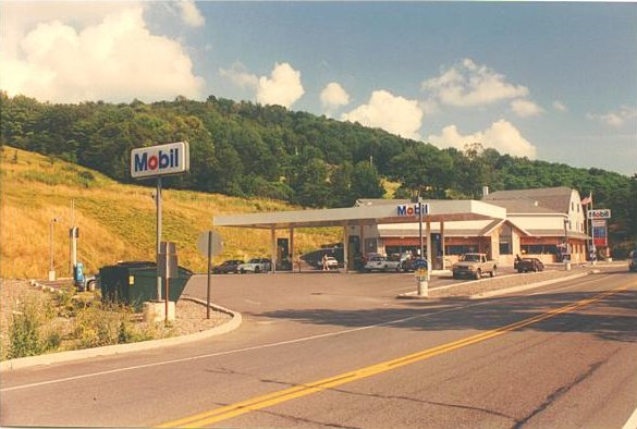 The Mobil station, just to the south and in PA