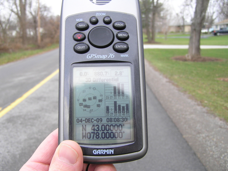 GPS receiver at the confluence of 43 North 78 West.