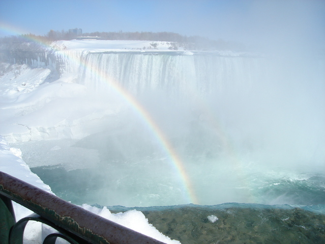 Increible arco iris sobre el Niagara - Unbelievable rainbow on Niagara river