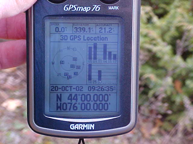 Can you read the coordinates on my GPS receiver?