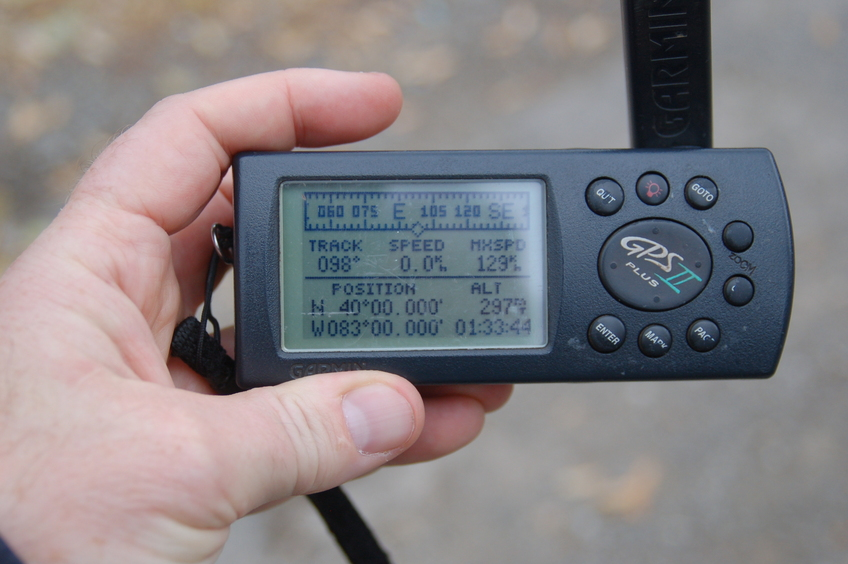 GPS in the middle of the service road