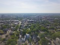 #12: View West (of Ohio State University) from 400 feet above the point