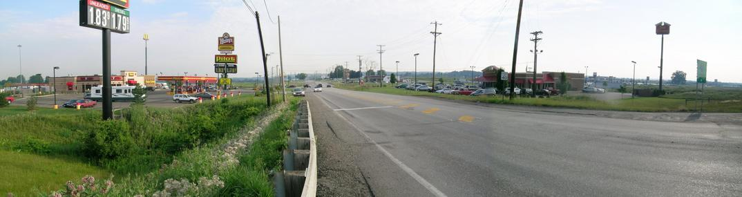 View to north from I71 – exit 203 (OH-83)