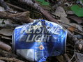 "#7: A ""Keystone Light"" beer can, left by a previous (littering) visitor"