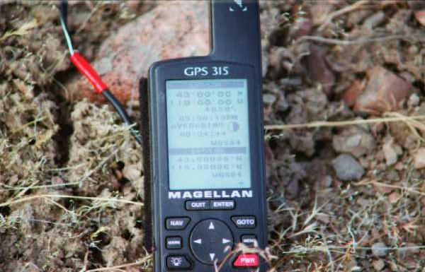 GPS sitting at location