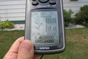 #2: GPS reading at the major confluence of 40 North 80 West.