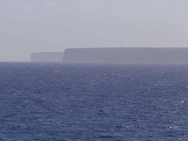 Cliffs on the north coast of Mona
