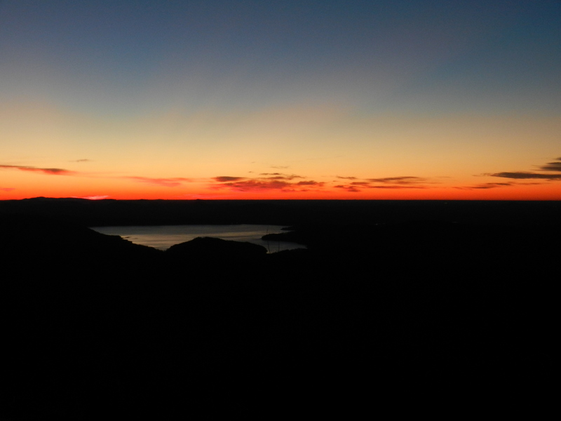 International Confluence Day 2013: Dawn over the Bad Creek Reservoir