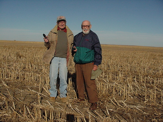The Ham Radio Operators-Clem Tucker(NØRFS) & Roger Kehm(KØROG) at 44N-99W).