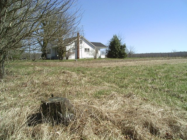 Looking NE at the house with the large field