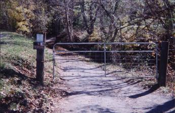 #1: Gate blocking entry to valley with degree confluence point