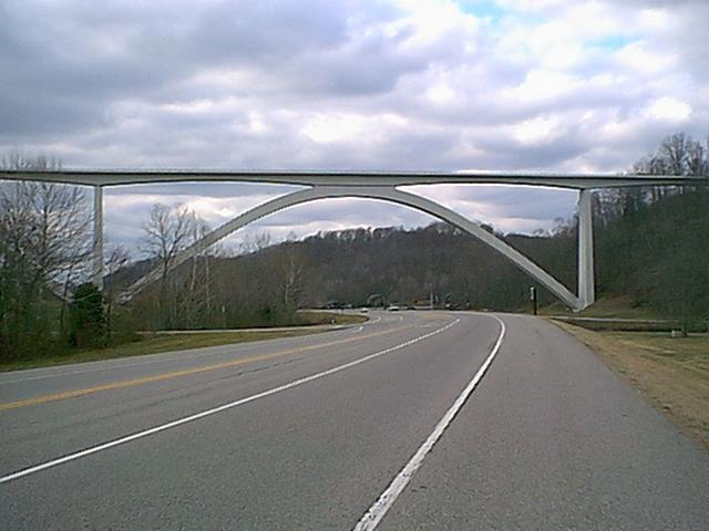 Natchez Trace bridge, approx one mile away.