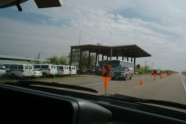 Border Patrol check point where we got searched