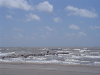 #1: Red Flagged sea at Galveston