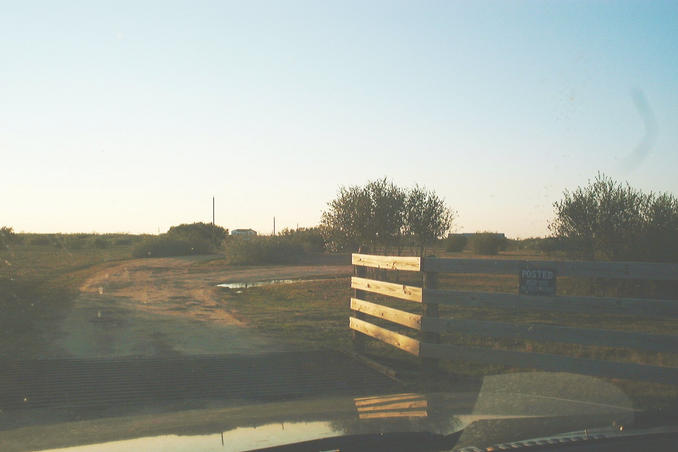 The gate with the No Tresspassing sign