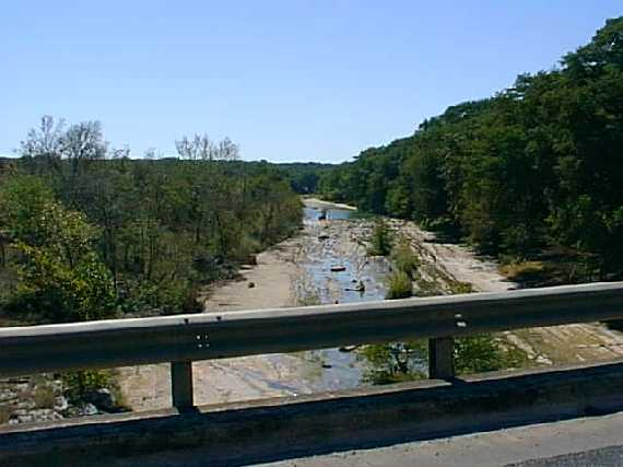 The Blanco River near Wimberley, Texas