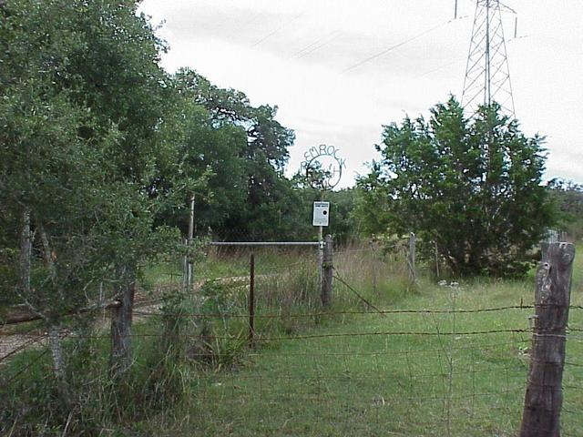 Entrance to ranch containing the confluence.