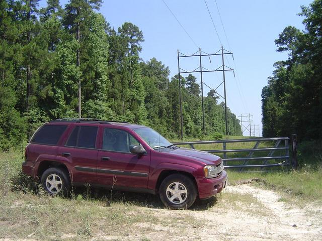 Here we parked the SUV and walked just 250 m through  the public utility easement to CP