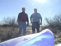 #3: William (left) and me (right) at N32 W103 (view to the west)