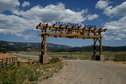 #2: Ranch Gate seen from Hwy 22 enroute