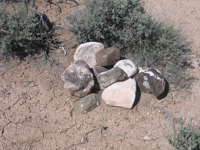 Cairn left by prior visitor