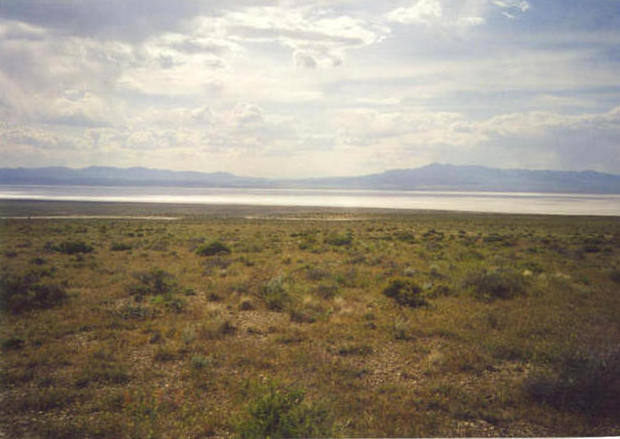 Looking west to the Sevier Lake bed