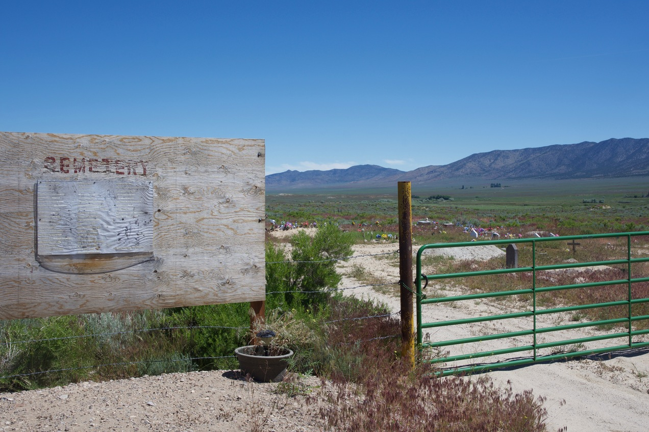 A small cemetery, 1 mile South of the point.  (This is where I started my hike.)