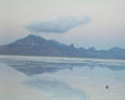 #7: Bonneville Salt Flats - no salt today, just a lot of brackish water